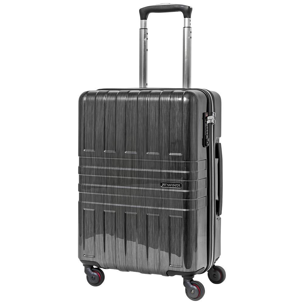 SKY NAVIGATOR スカイナビゲーター スーツケース TSAロック搭載 4輪 37L 2日 3日用 48cm SK-0782-48 B07MQC4GNZ ブラックヘアライン