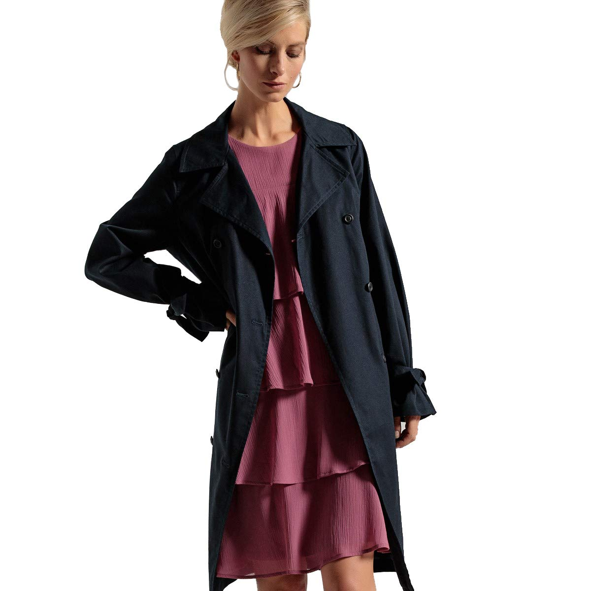La Redoute Womens Water-Repellent Stain-Resistant Trench Coat