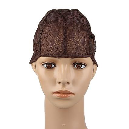 Beauty7 Wig Cap Gorros de Peluca de Nylon Casquillo Extensiones del Cabello Pelucas DIY Negro Marrón