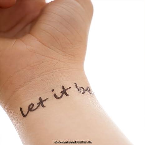 Let It Be – 2 Varios Tattoo Texto en negro – Cuerpo Tattoo, 1 x ...