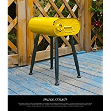 CZCSQD-Chair, vintage iron drums creative bar coffee shop industry, stools,Yellow