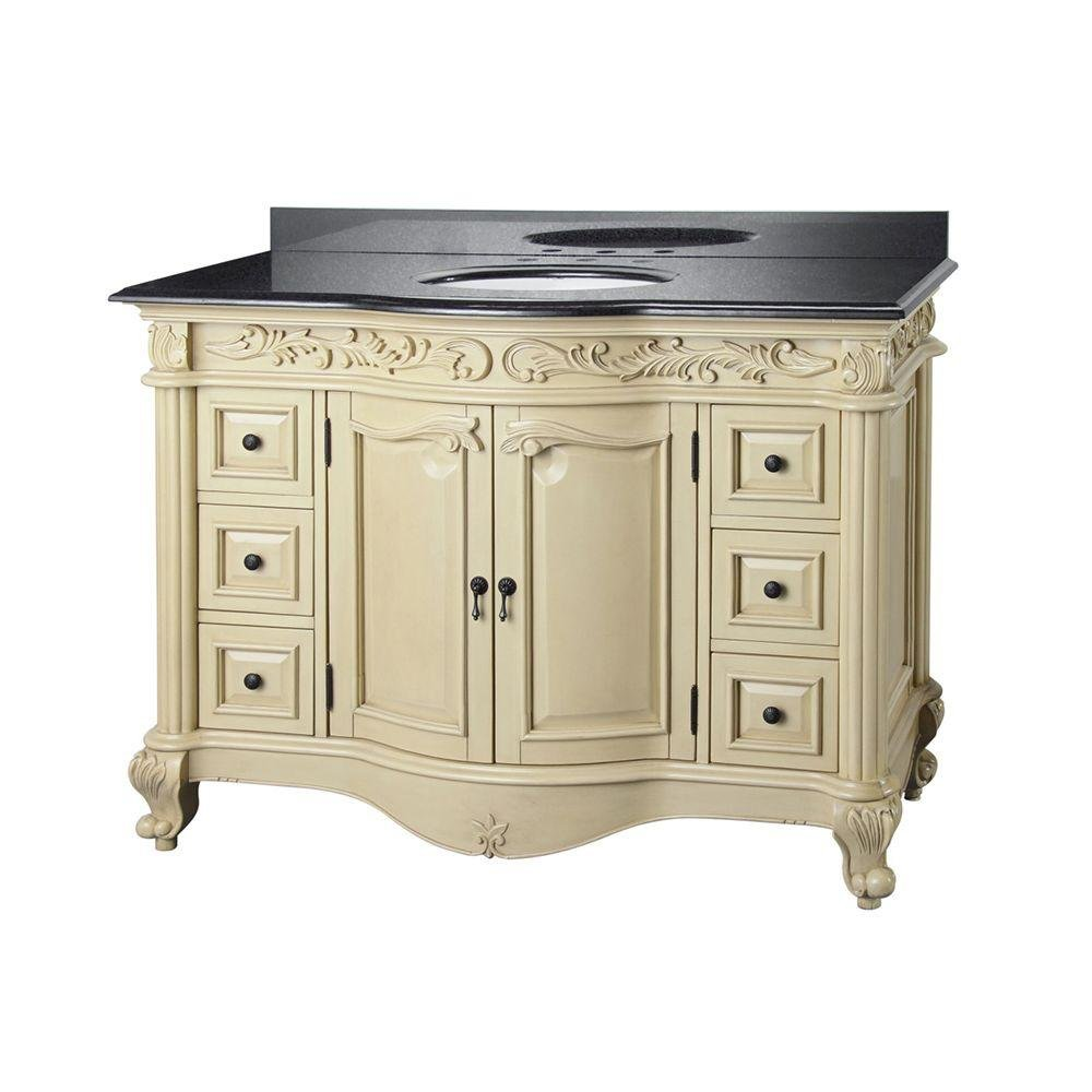 Foremost ETAVT4922D Estates 49 Inch Vanity With Granite Vanity Top, Black   Bathroom  Vanities   Amazon.com