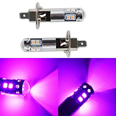 2pcs H1 14000K Purple LED Headlight Bulbs Kit Fog Driving Light DRL: Automotive
