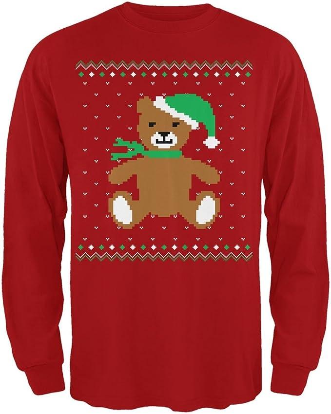 Ugly Christmas Sweater Big Llama Red Adult Sweatshirt