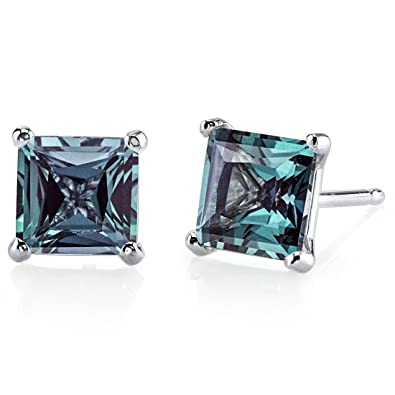pin in silver cut created sterling carats color flawless oravo alexandrite earrings lab stud radiant