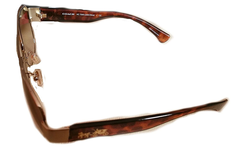 07c61423a6a12 ... germany coach olivia tortoise shell signature sunglasses light gold dark  tortoise hc7049 at amazon womens clothing