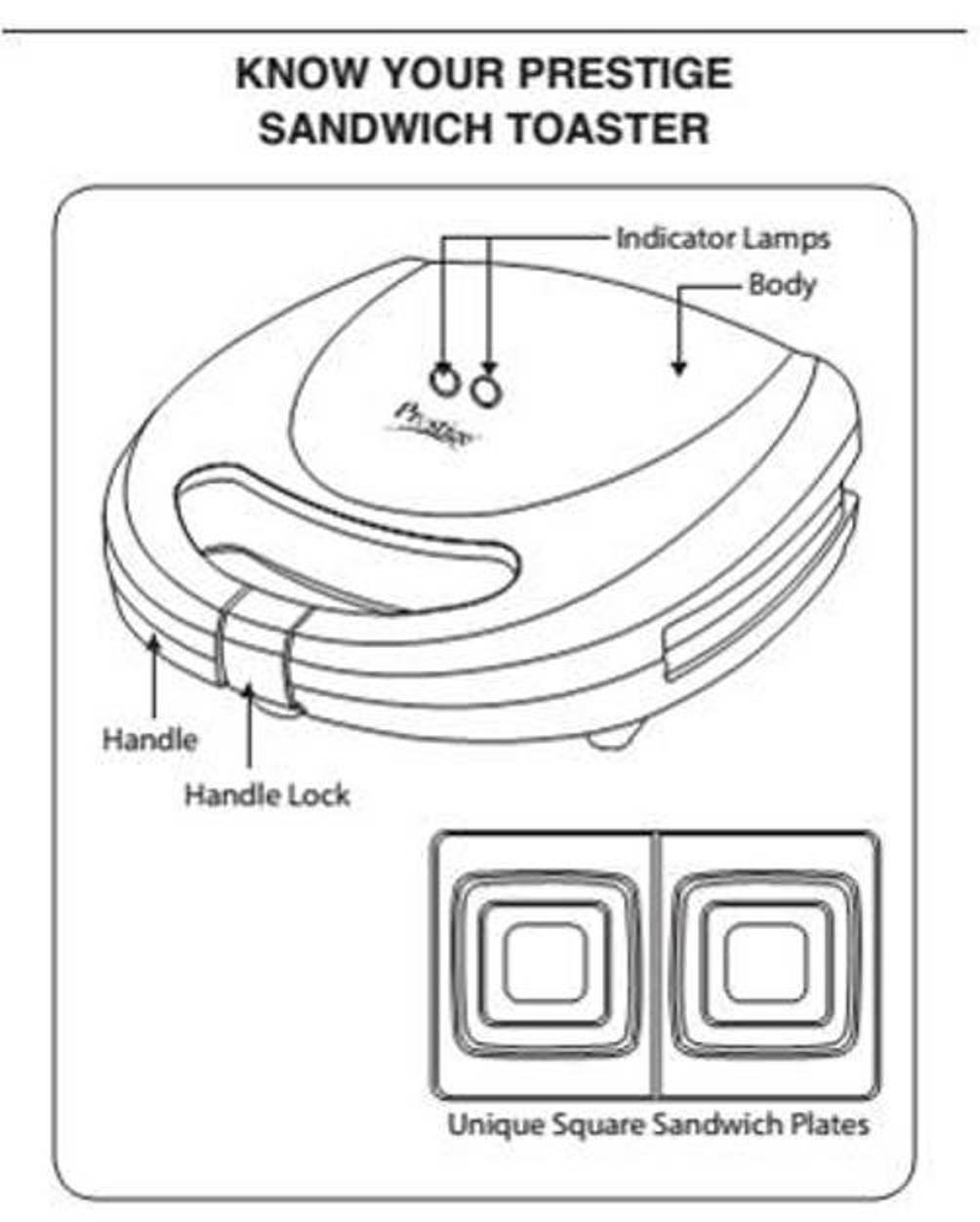 Buy Prestige Psqfb 41490 700 Watt Sandwich Toaster Black Online At Wiring Diagram For Low Prices In India