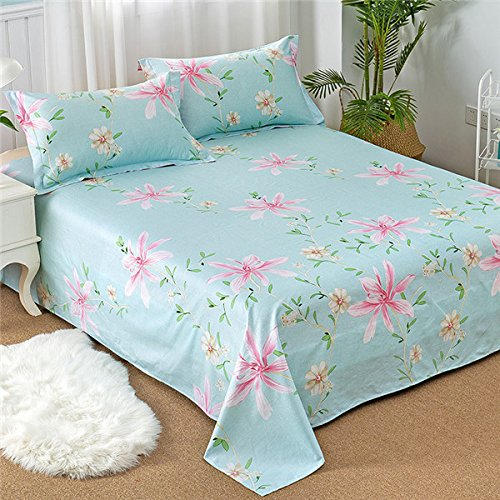 YingYing Home Cotton 3pcs Bed Sheets Pillowcase Modern Fashion Home Textiles Bed Linen Petal Printing Pattern by YingYing Home