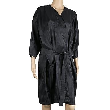 Amazon.com: Segbeauty Spa Massage Client Gown, Salon Black Kimono ...