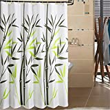 Tentotwelve Mildew-Free Water-Repellent Bamboo Shower Curtain,Bamboo 108-Inch by 78-Inch,