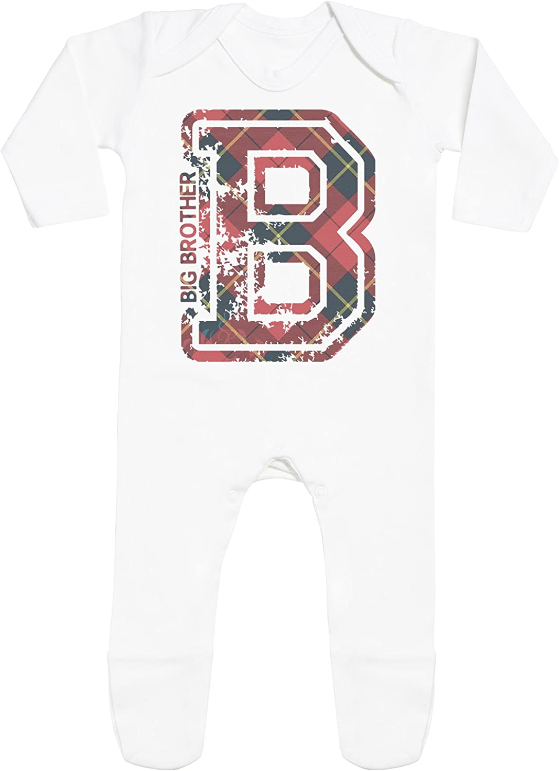 B for Big Brother Baby Rompersuit with Feet Baby Romper Baby Sleepsuit Baby Jumpsuit Baby Rompersuit SR