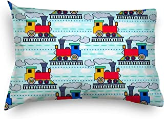 product image for SheetWorld Twin Pillow Case, 100% Cotton Woven 20 x 26, Kiddie Trains, Made in USA