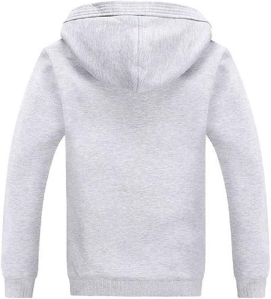 Smallwin Mens Sherpa Lined Zipper Thick Winter Hooded Sport Sweatshirt Coat