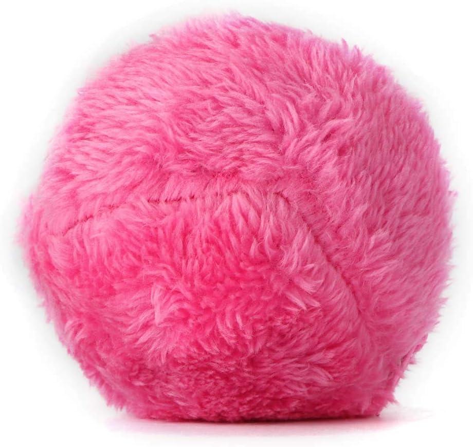 PopHMN 2-in-1 Magic Roller Ball Palla Giocattolo Elettrico per Animali Domestici con 4 Panni in Lana Giocattoli Educativi per Animali Domestici per Cani Gatti