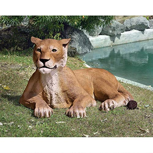 Design Toscano The Grand Scale Wildlife Animal Lioness Lying Down Statue