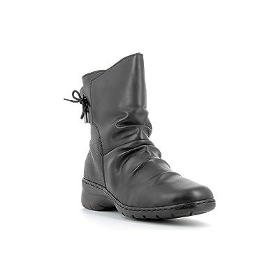 b0c9b3e8e3ad RIEKER - Bottines en cuir femme RIEKER - Z4362-00 - Bottes   Bottines - Noir  - 41  Amazon.fr  Chaussures et Sacs