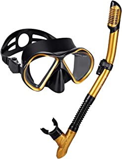 051a04e3ca Snorkel Set Snorkeling Gear Package Diving Set Premium Silicone Dive Mask  Snorkel Equipment Goggles Anti-