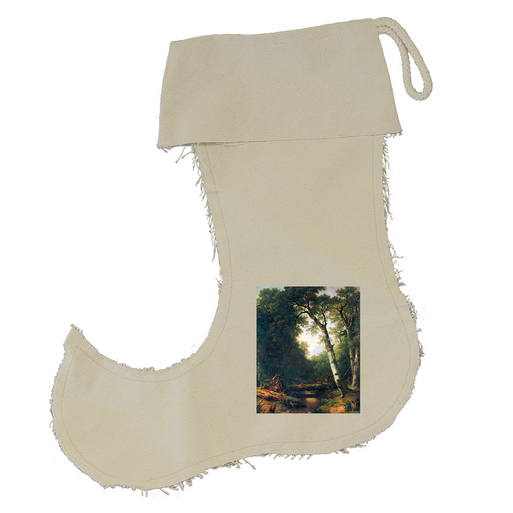 A Creek In The Woods (Durand) Cotton Canvas Stocking Jester - Large