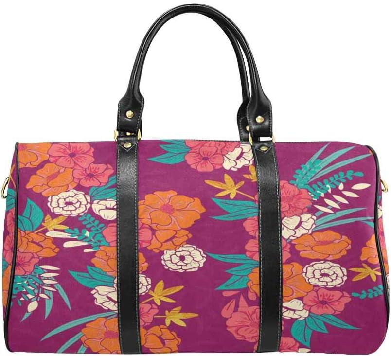 InterestPrint Unisex Duffel Bag Carry-on Bag Overnight Bag Weekender Bag Gilded Jungle