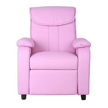 Strange Xss Kids Light Pink Reclining Armchair Comfortable Padded Sofa Furniture Headrest Andrewgaddart Wooden Chair Designs For Living Room Andrewgaddartcom