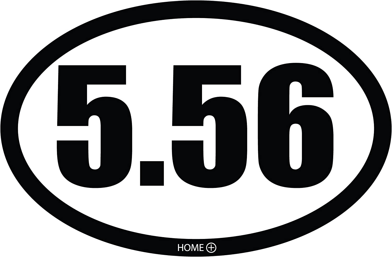 6.5 inches x 4.25 inches Home Advantage 5.56 Oval Car Magnet