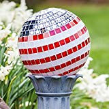 10 inch Patriotic Stars and Stripes Mosaic Gazing Ball