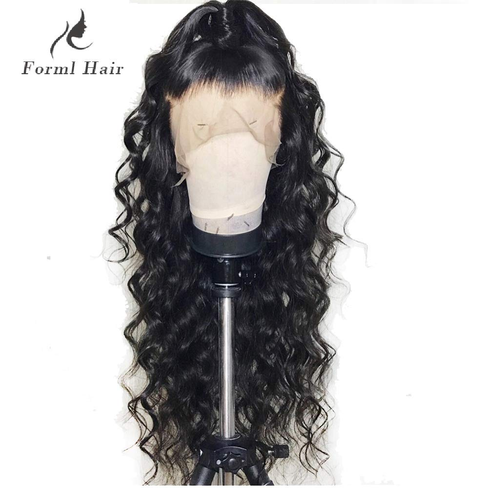 Formal hairLoose Curly Wave Full Lace Human Hair Wigs-Glueless 130% Density Brazilian Virgin Remy Wigs with Baby Hair For Black Woman 22 inch, Natural Color by Formal Hair (Image #2)