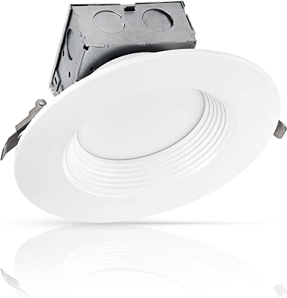 5000K Daylight 1125 Lm IC Rated No Can Needed ETL /& Energy Star Listed 15W 80 Watt Repl. LUXTER 6 inch Ultra-Thin Round LED Recessed Panel Light with Junction Box Dimmable