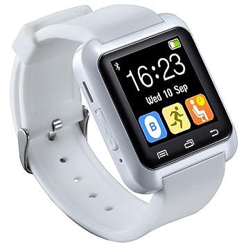 HopCentury Bluetooth reloj inteligente para Android teléfonos móviles con llamadas Notificador Monitor de sueño podómetro cronómetro anti perdido ...