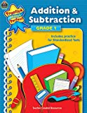 Addition and Subtraction, Grade 1, Teacher Created Resources Staff, 074393315X