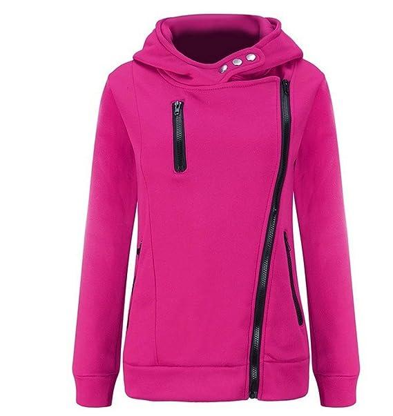 Sudadera con capucha cremallera, mujer manga larga con capucha suéter capa: Amazon.es: Ropa y accesorios