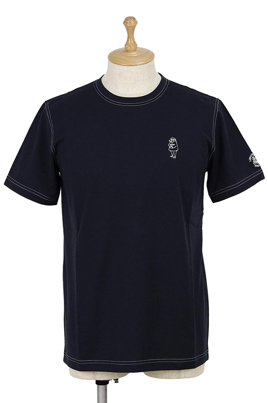 [シナコバ ポルトフィーノ] メンズ 半袖クルーネックTシャツ 丸首 ストレッチ 綿100% キャプテンステッチ ゴルフウェア LL(LL) ネイビー(290) B07SCKRZMR
