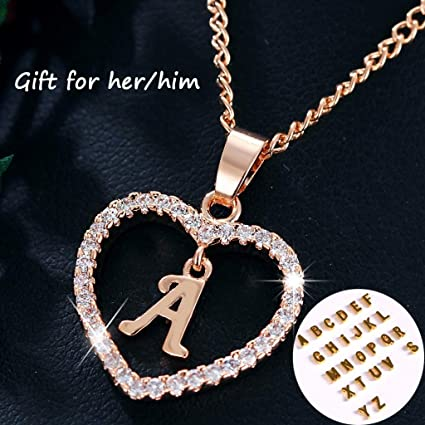 0ba1d7f97db7 Image Unavailable. Image not available for. Color  Naomi Exquisite 26  Letters Long Sweater Zircon Chain Pendant ...
