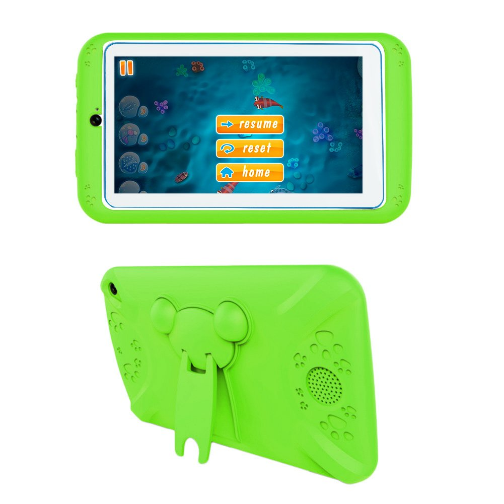 7'' Kids Tablet PC, Q798 Android 4.4 8GB ROM 512MB RAM Tablet Dual Camera WiFi USB Phablet Silicone Case by XINSC (Image #1)