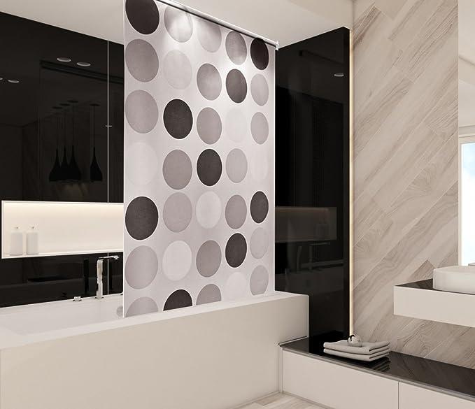 Tropik Home Retro baño Cortina de Ducha Estor Extra Largo, Ancho ...
