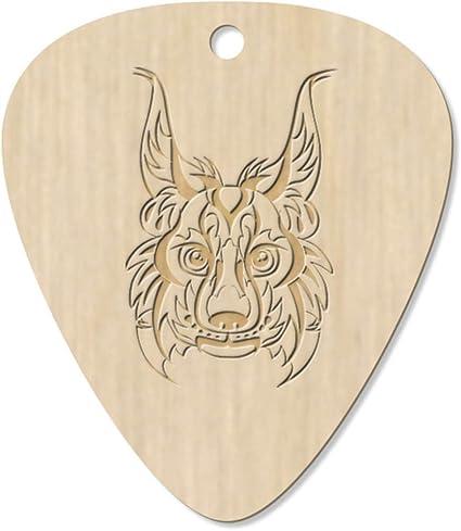Azeeda 7 x Cabeza de Lince Tribal Guitarra Púa (GP00012964): Amazon.es: Juguetes y juegos