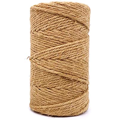 Jute Twine 3mm Thick 328 Feet Heavy Duty Natural Jute Rope String for Home Gardening Plant Picture Hanger Industrial Packing String for Gifts Presents Mason Jars Wedding Decorations Art&Crafts : Office Products
