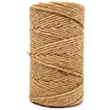 Jute Twine 3mm Thick 328 Feet Heavy Duty Natural Jute Rope String for Home Gardening Plant Picture Hanger Industrial Packing