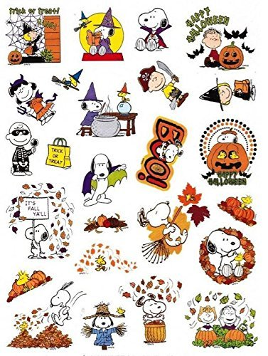 amazon com peanuts snoopy fall and halloween stickers 25 stickers