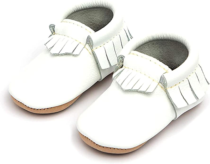 Baby Girl Shoes Freshly Picked Soft Sole Leather Bow Moccasins Infant Sizes 1-5 Multiple Colors