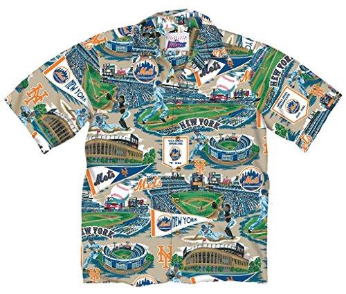 Reyn Spooner Men's New York Mets 2017, Brick, XL