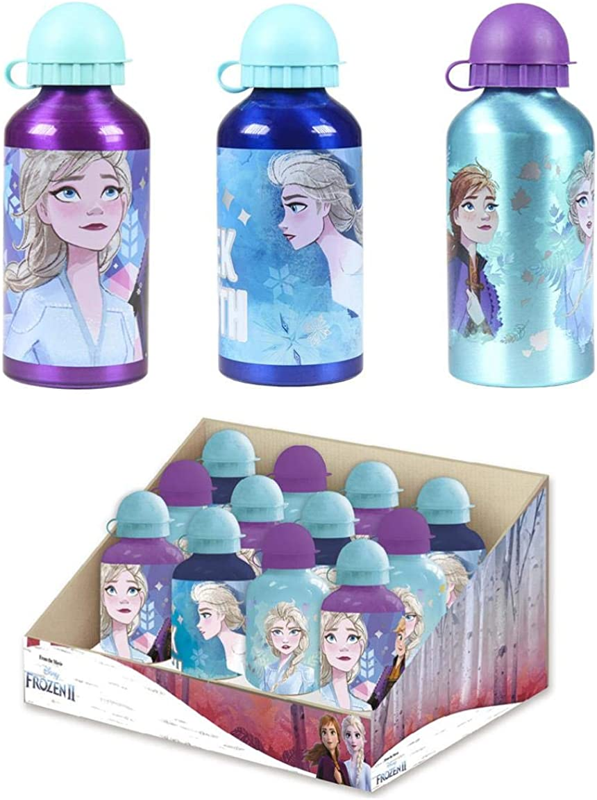Cerdá, Botella de Aluminio para Agua con Capacidad Color Azul-Licencia Oficial de Frozen 2 de Disney Studios Unisex niños, Pearl, 500 ML: 4,4,4