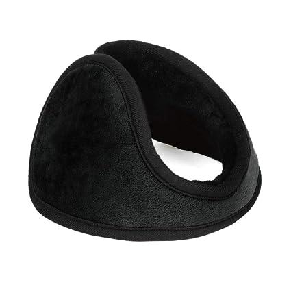 UXCELL Unisex Winter Pad Fleece Cover Ear Warmer Back Earmuffs (Black)   Amazon.in  Clothing   Accessories b3870d69d3f