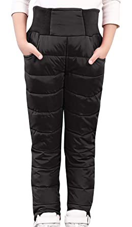 4aa8c0274 Amazon.com  AIEOE Baby Windproof Down Pants Toddler Puffer Trousers ...