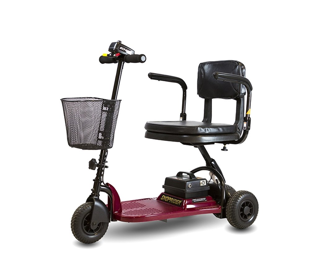 Shoprider Echo 3 Wheel Mobility Scooter, Red by Shoprider
