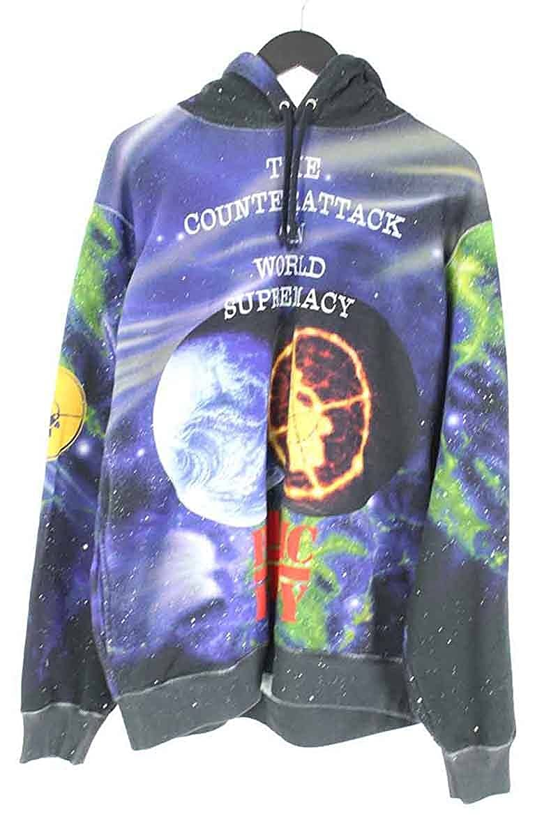 (シュプリーム) SUPREME ×アンダーカバー/UNDERCOVER 【18SS】【Hooded Sweatshirt】×PUBLIC ENEMY総柄プルオーバーパーカー(L/ブラック調) 中古 B07DQNWNYB