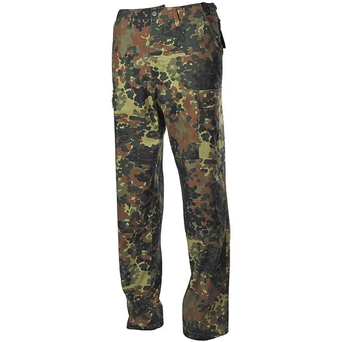 Amazon.com: MFH BDU combate pantalones Ripstop Flecktarn ...