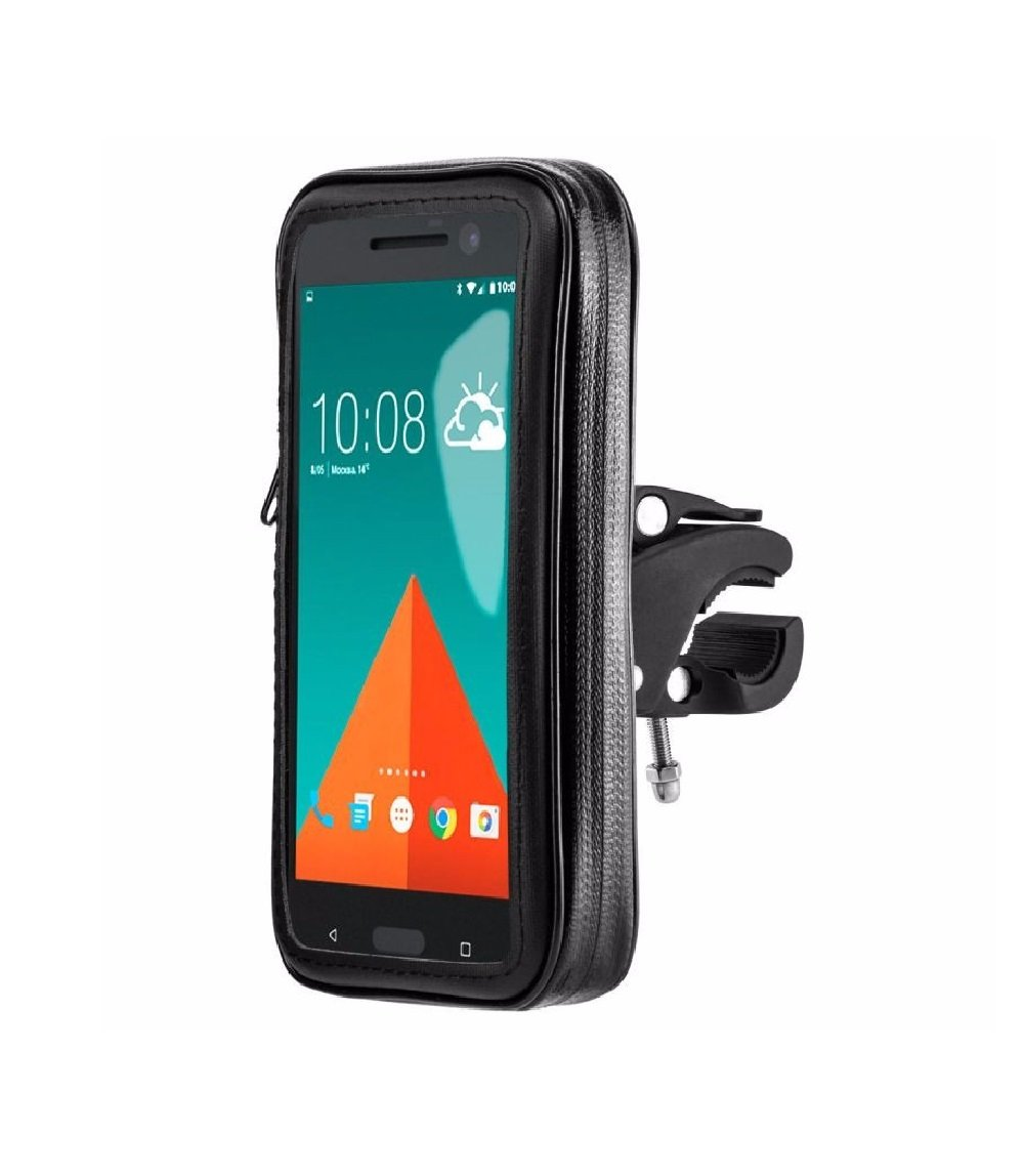 Support iPhone x moto étanche nouvelle fixation de dureté extrême système anti-chutes support iPhone x velo support velo iPhone x support moto iPhone x noir AR-Gun