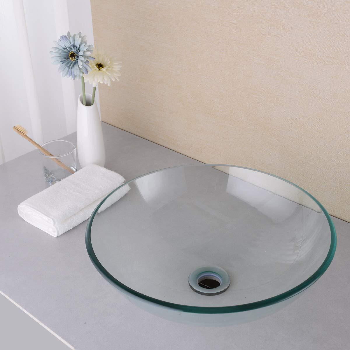 Matte Black by SINKINGDOM Bathroom Brass Mounting Ring for Vessel Sink