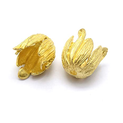 Craftdady 30Pcs Unplated Brass Flower Spacer Bead Caps 15x12.5mm Cadmium Free /& Lead Free /& Nickel Free Tibetan Metal Bead Cone End Caps Terminators for DIY Jewelry Making